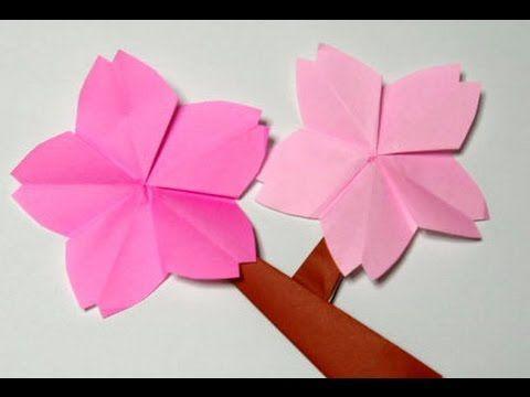 Easy origami flower - How to make origami flower CHERRY BLOSSOM!