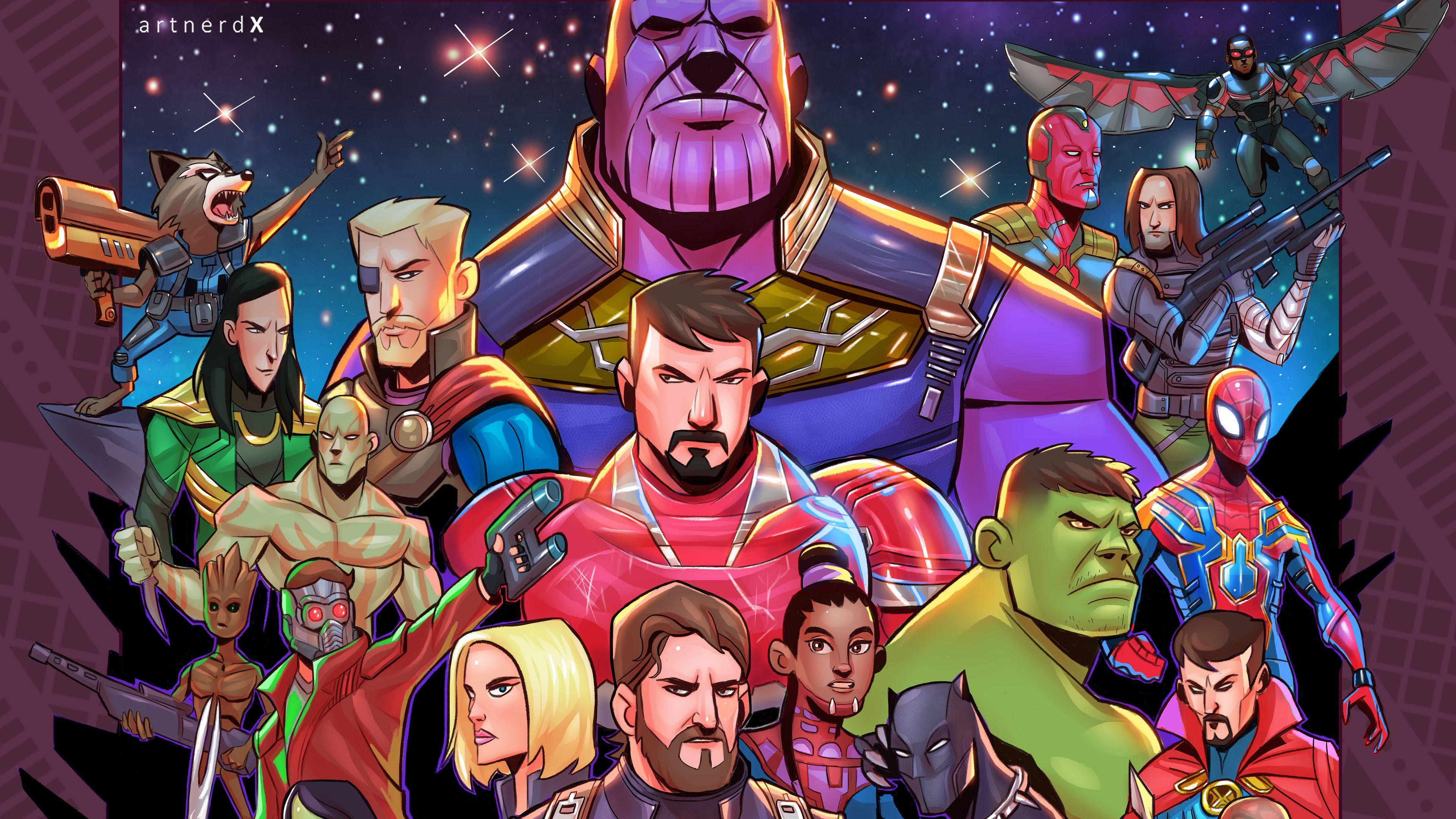 Avengers Infinity War Superheroes Artwork Vision Wallpapers Thor Wallpapers Thanos Wallpapers Star Thor Wallpaper Captain America Wallpaper Marvel Paintings