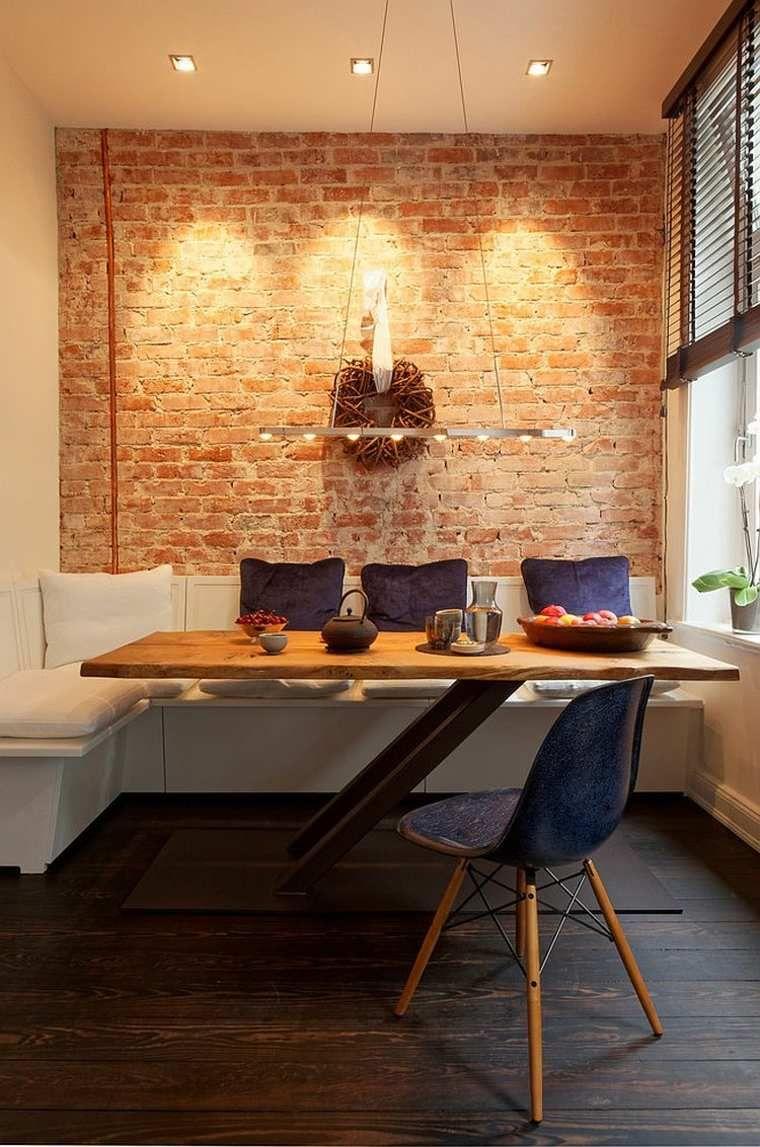 déco salle à manger avec mur brique : 50 idées originales | mur en