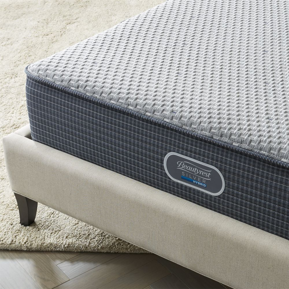 Simmons California King Beautyrest Silver Hybrid Plush Mattress Crate And Barrel