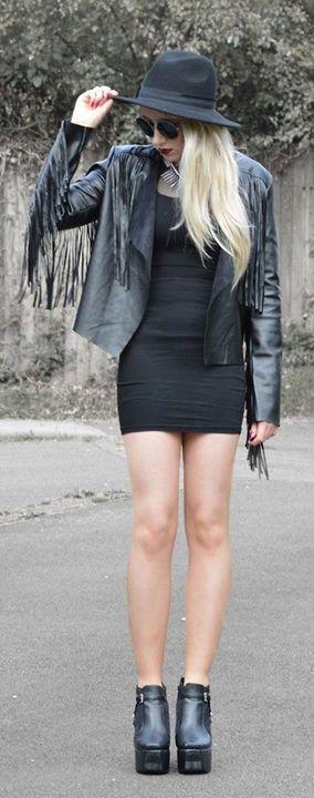 Fringe Dreams Suede Jacket in Black