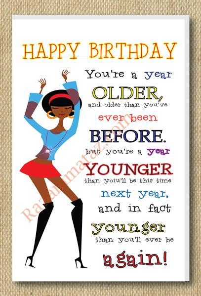 African American Girl A Year Older Birthday Card Happy Birthday Black Niece Birthday Wishes Happy Birthday Cousin