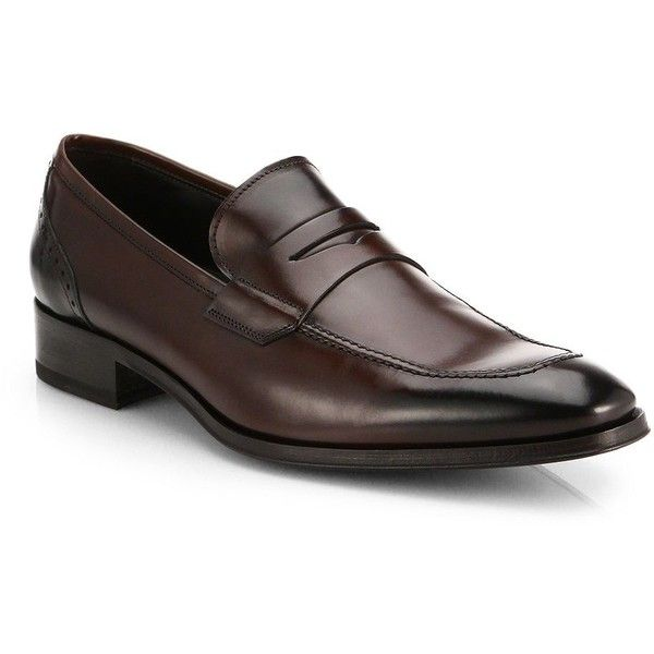 be01076ede1 To Boot New York Moore Leather Penny Loafers ( 415) ❤ liked on Polyvore  featuring