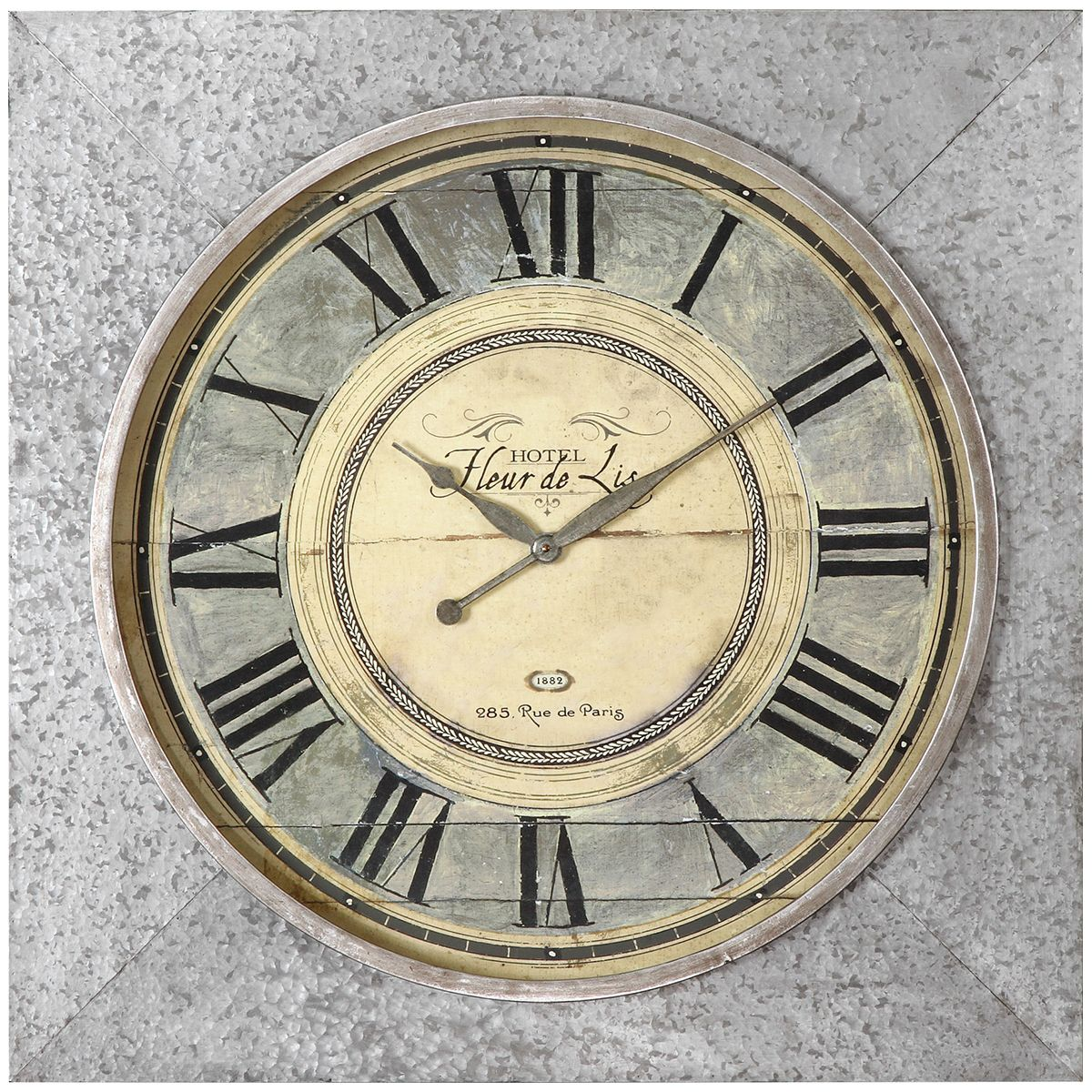 Uttermost Rue De Paris Ivory Wall Clock 06423