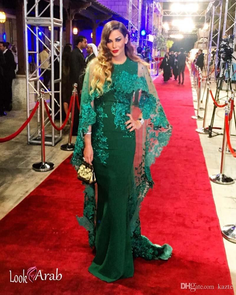 New Capped Dark Hunter Green Satin Mermaid Evening Dresses Tulle ...