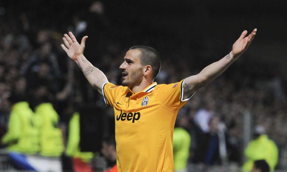 Olympique Lyonnais vs Juventus - UEFA Europa League  - esultanza Bonucci