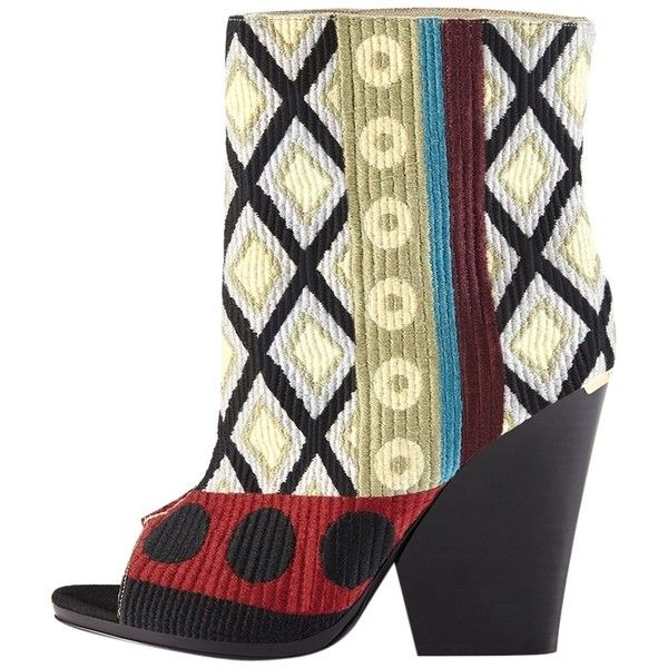 f62057cf983 Pre-owned Burberry Brand New Prorsum Tapestry Peep Toe Ankle Nib Box ...
