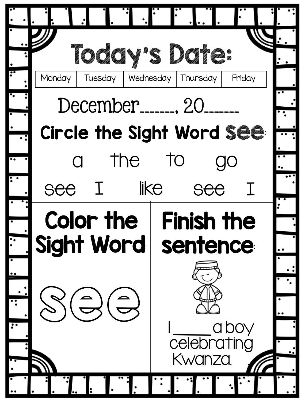 December Morning Work Kindergarten Math Activities Morning Work Math Activities [ 1500 x 1125 Pixel ]