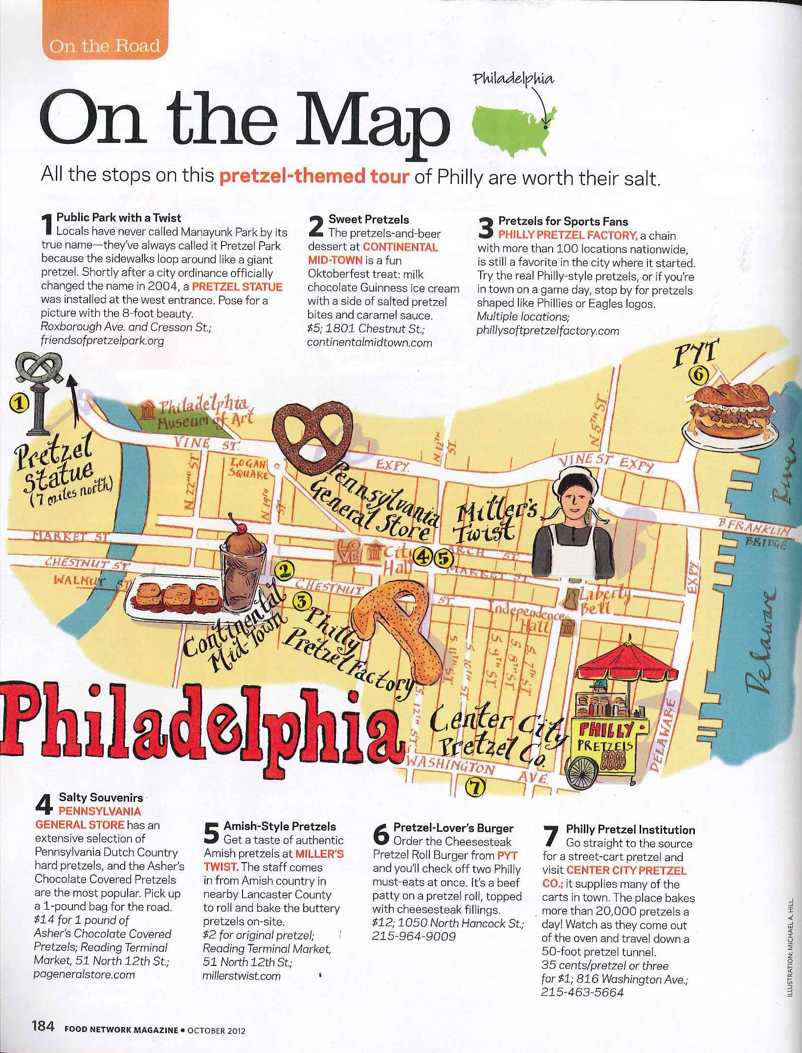 Food Network Map : network, Network, Magazine, October, Magazine,, Recipes,
