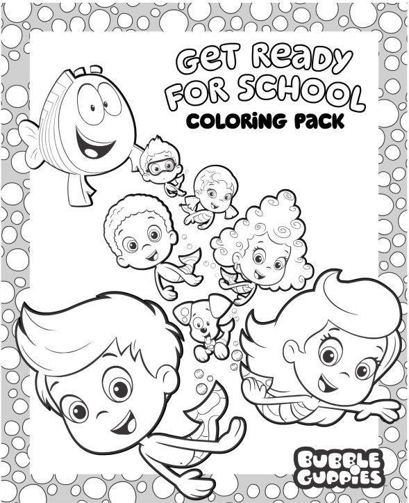 Bubble Guppies Free Back to School Coloring Pack  Back to School