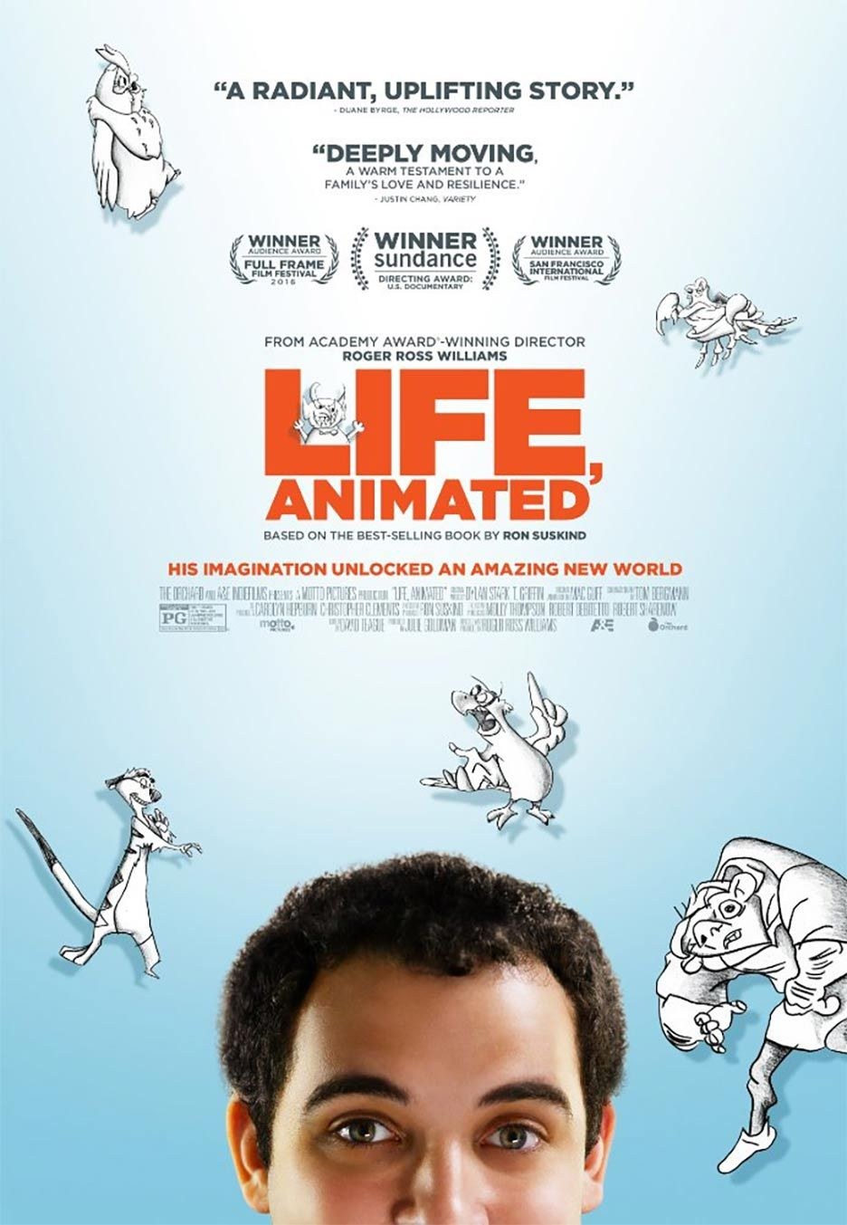 動畫醫神 | Life, Animated   (90min / 2016)     #MelanieLynskey    #JasonRitter    #SkylarBernon     #France    #USA    #Movie    #Poster  #Documentary