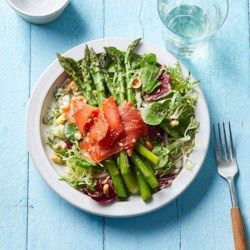 Asparagus Salad with Smoked Salmon & Meyer Lemon Vinaigrette - Eating Well recipes -