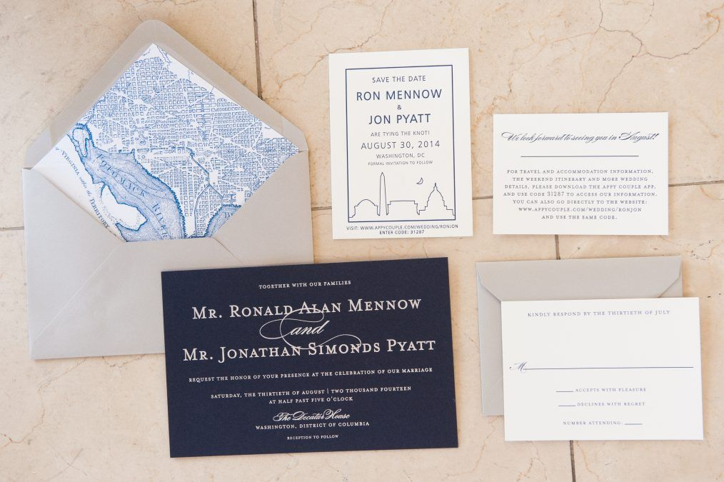 Washington Dc Themed Wedding Invitations And Save The Date