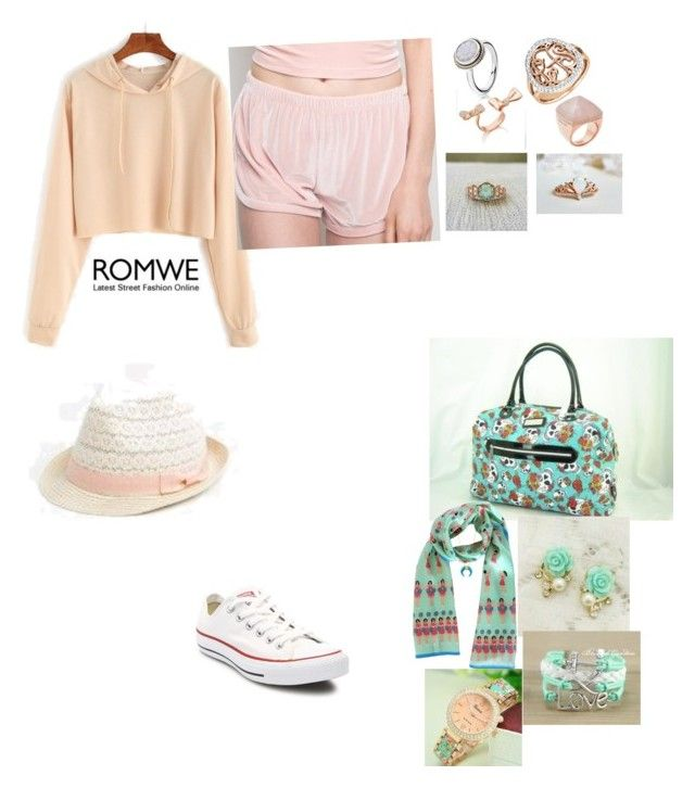 """Untitled #168"" by missym517 ❤ liked on Polyvore featuring Converse, Michael Kors, Brandy Melville, Karen Mabon and Mimi So"