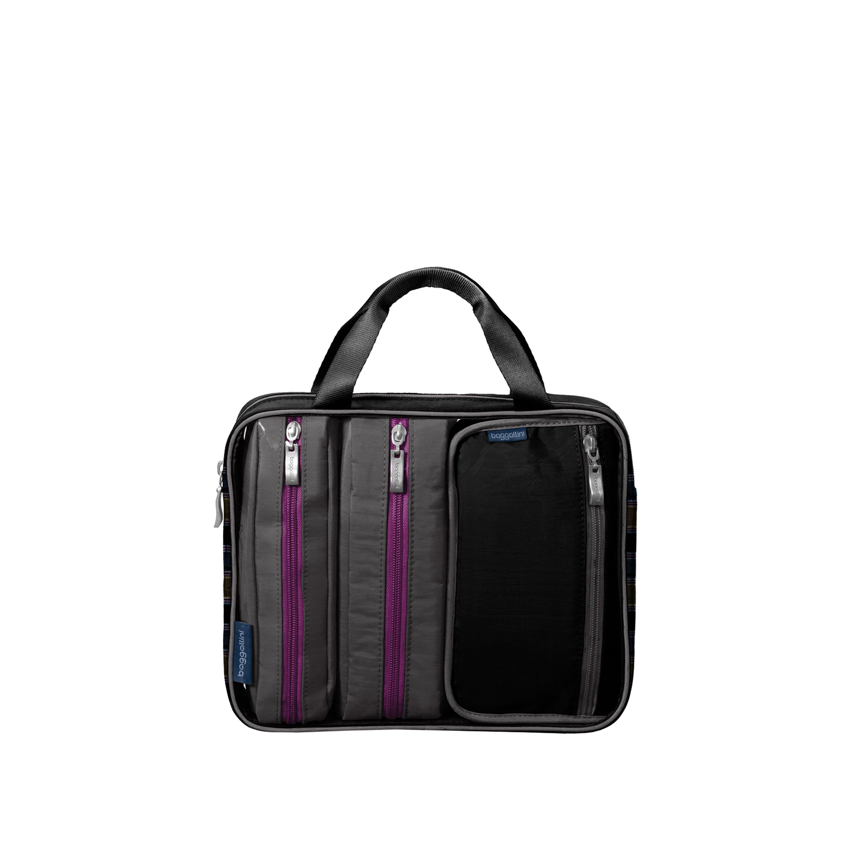 Travel Trio Cosmetic Bag Baggallini In Black Charcoal