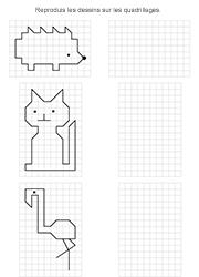 Exercice ludique à imprimer, reproduire une figure sur quadrillage | Maths | Pinterest ...