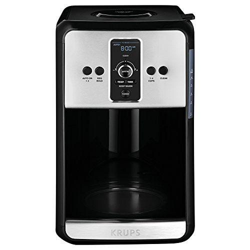 Krups Turbo Savoy Black 12 Cup Programmable Coffee Maker