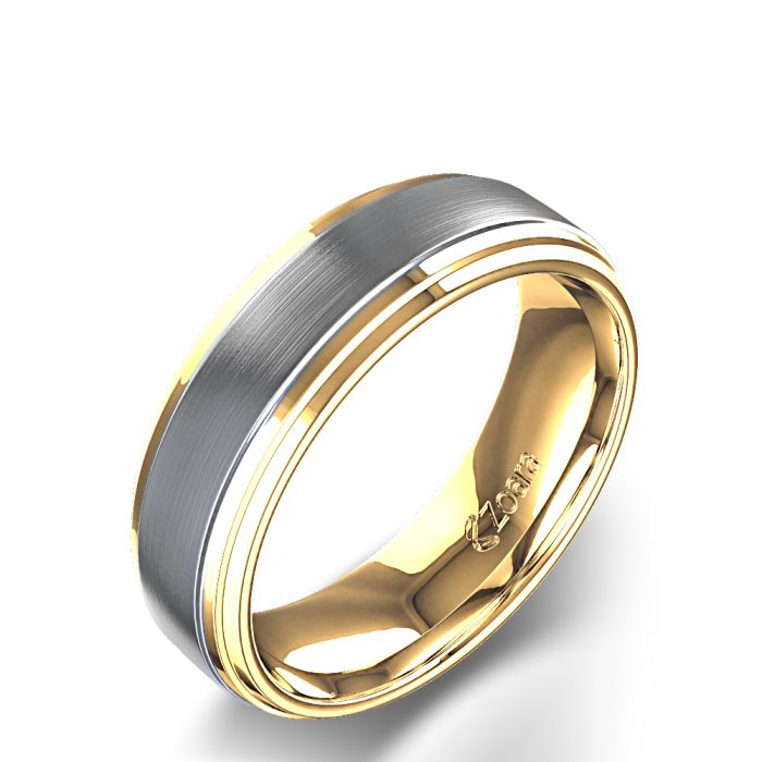 Gold Wedding Bands For Him Mens Yellow