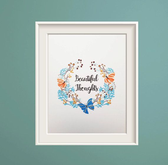 Butterfly Gifts Gold Print Easter Spring Flower Poster Living Room Decor Gift For Couple