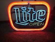 Man Cave Signs That Light Up : Led man cave personalized sign with truck and beer can garage