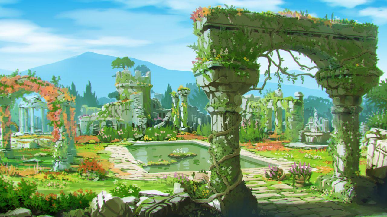アトリエ シリーズ最新作 ソフィーのアトリエ 不思議な本の錬金術士 の新情報公開 公式サイトも本日オープン ファンタジーな風景 アニメの風景 環境アート