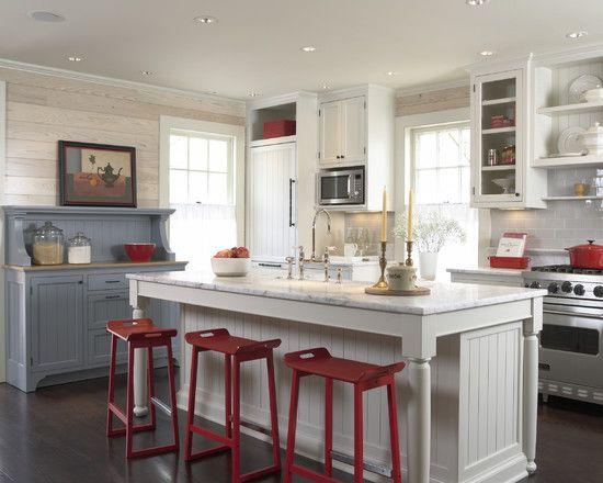 Cottage Kitchens Design Ideas Pictures Remodel And Decor Cottage Style Kitchen Kitchen Remodel Americana Kitchen