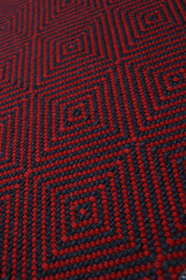 Best Large Diamond Flatweave Flame Red Stair Runner Carpet 400 x 300