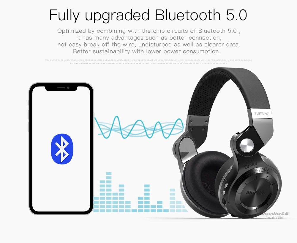 6bb8f33e21a Bluedio T2+ fashionable foldable over the ear bluetooth headphones, BT 4.1  support FM radio & SD card functions Music & phone calls