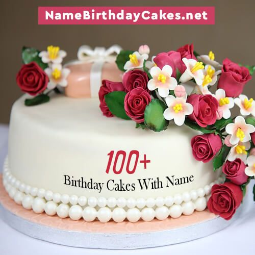 Send Happy Birthday Wishes By Writing Name On Birthday Cake Images