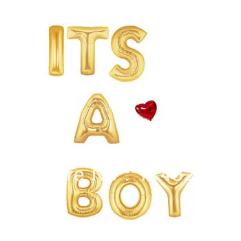 FREE SHIPPING Jumbo Gold Mylar Foil Balloons IT'S A BOY 40'' /Cheap 100 cm Aluminium Foil Balloons For BABY SHOWER Best Quoality