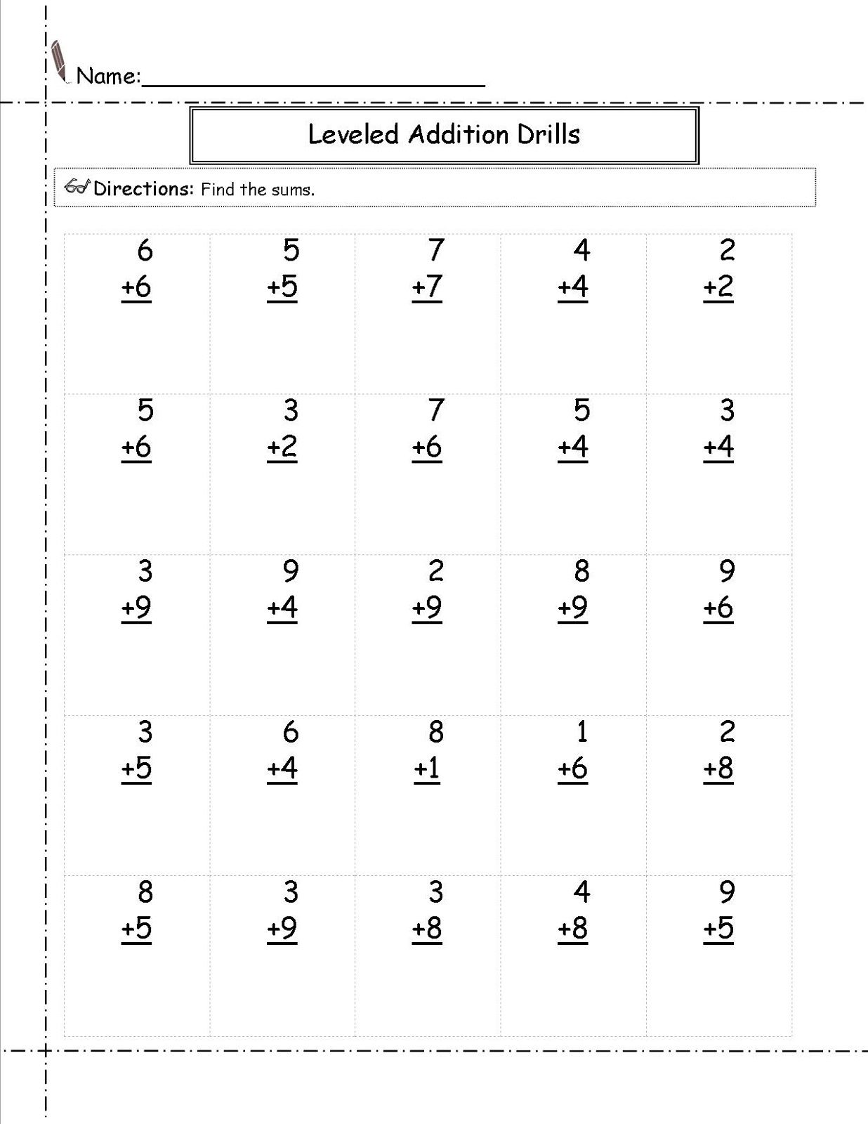 Simple Addition And Subtraction Worksheets For Second Grade Worksheets Free Download
