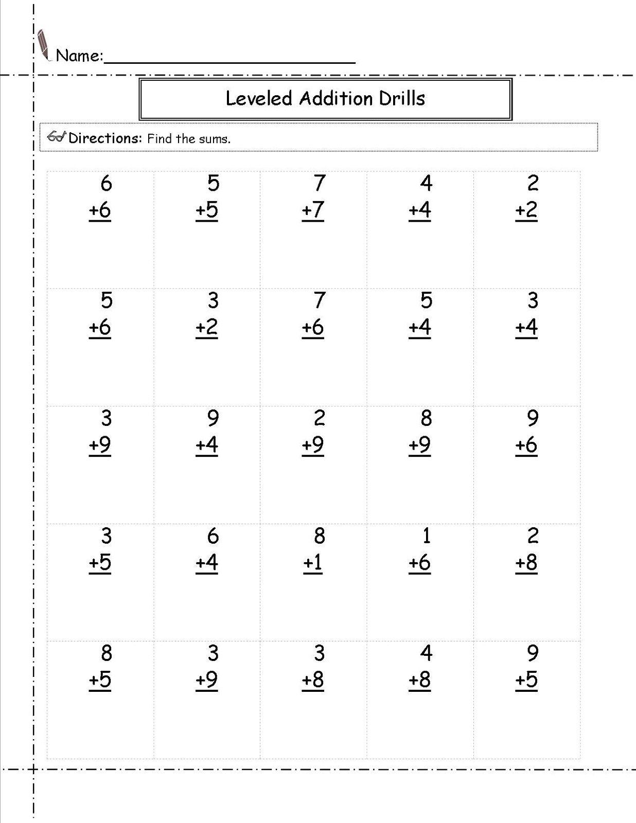 Math Worksheets For Grade 1