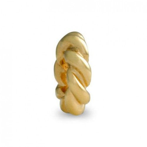 LY3615 Pandora 14ct Gold Twist Spacer Charm