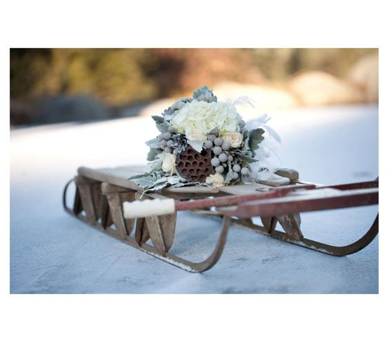 Stowe Mountain Lodge: Special Delivery - winter bridal bouquets