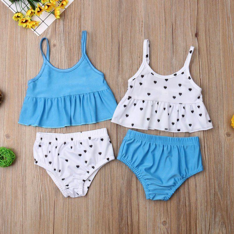 246d8388abc9a 2019 verano lindo grande/pequeña hermana juego chico bebé niñas Dot Bikini  traje de baño de niño niños ropa