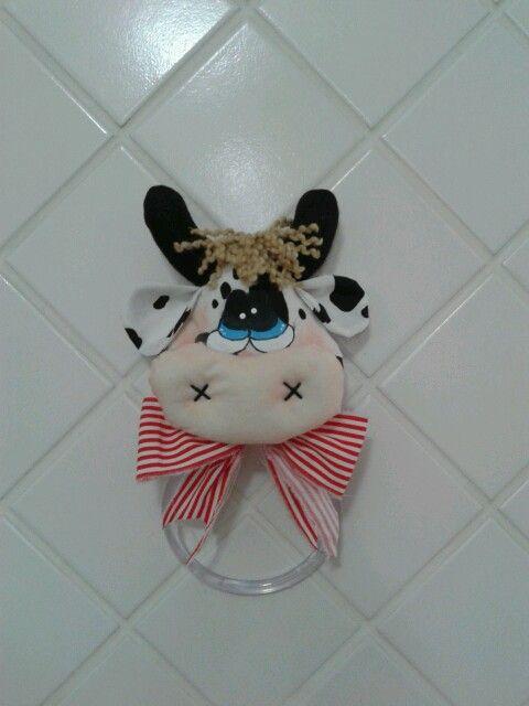 Porta toalla de vaca