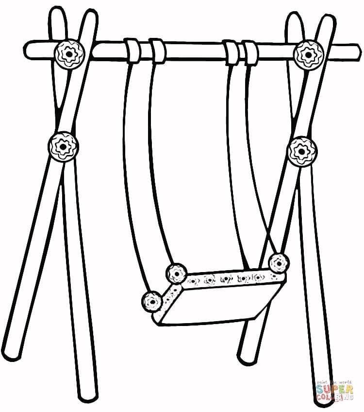 Swing For Kids Coloring Page Free Printable Coloring Pages Coloring For Kids Coloring Pages For Kids Free Printable Coloring Pages