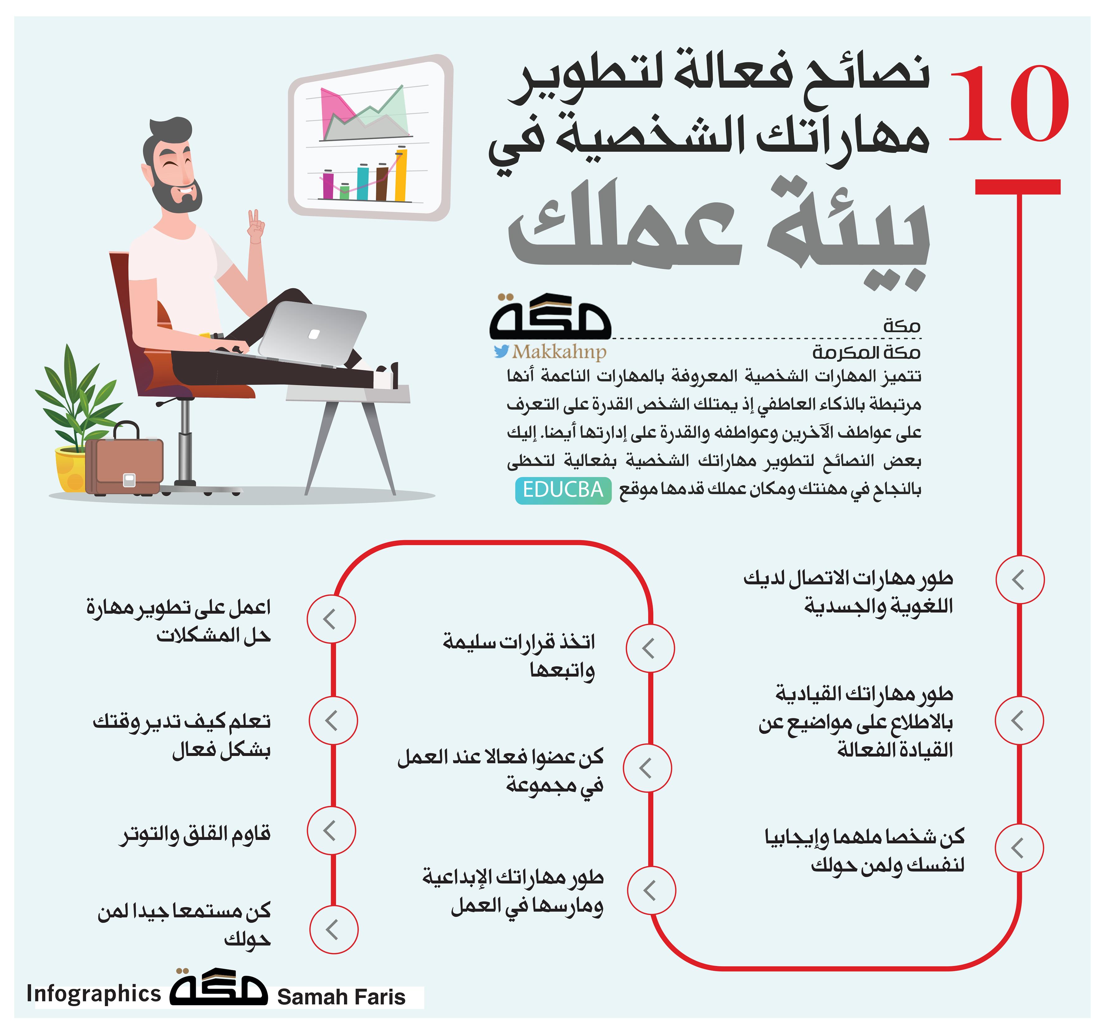 إنفوجرافيك 10 نصائح فعالة لتطوير مهاراتك الشخصية في بيئة عملك إنفوجرافيك المهارات Infographic تطوير الذات صحيفة مكة Infographic 10 Things Asos