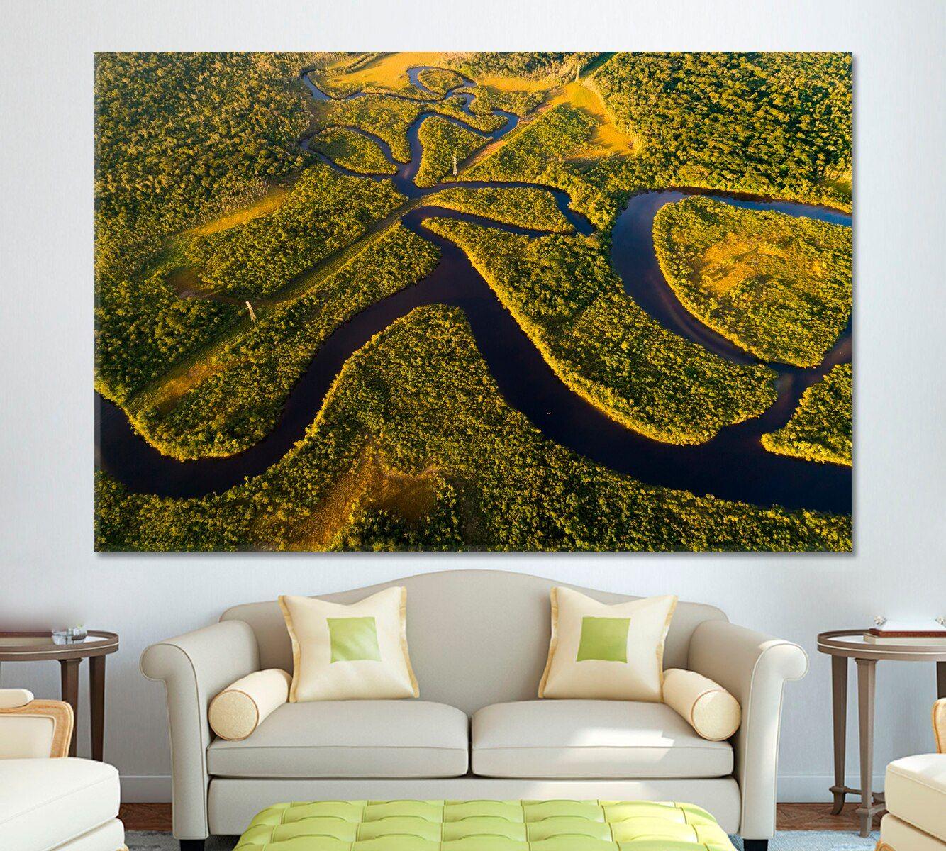 Amazon Rainforest In Brazil Amazon Rainforest Canvas Prints