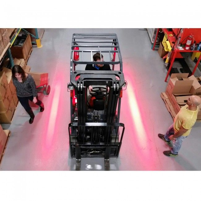Red Zone Led Pedestrian Warning Light Safety Red Beam