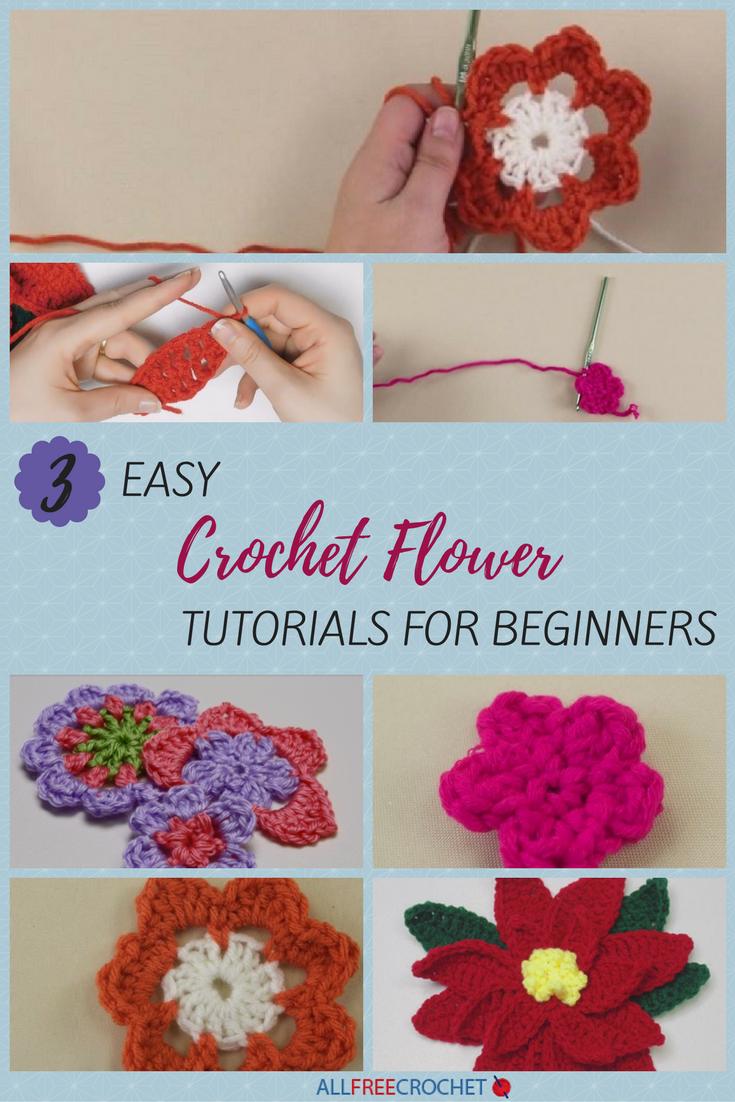 3+ Easy Crochet Flower Tutorials for Beginners