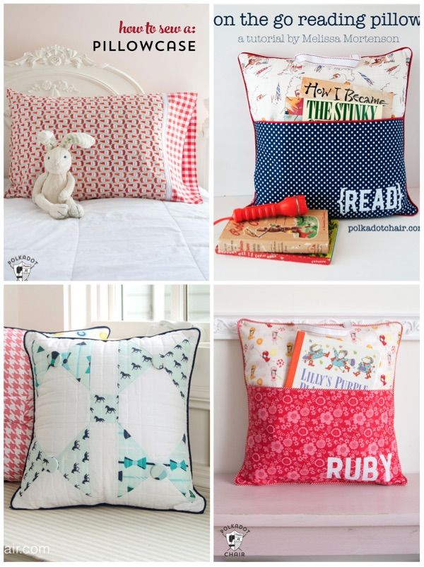 Pocket Pillow Sewing Pattern on Polka Dot Chair Blog | Reading ...