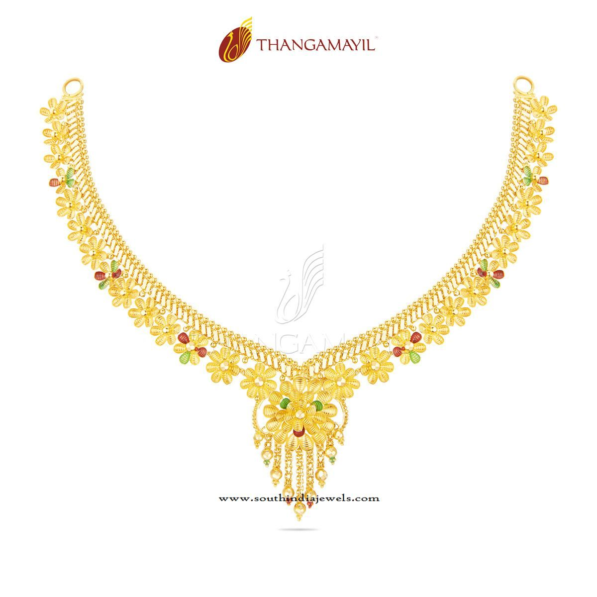 Beautiful Gold Necklace from Thangamayil Jewellery ...