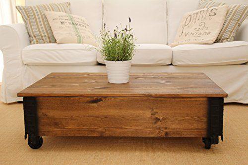 Wunderbar Couchtisch Beistelltisch Nussbaum Holz Massiv Shabby Chic Vintage  Wohnzimmertisch