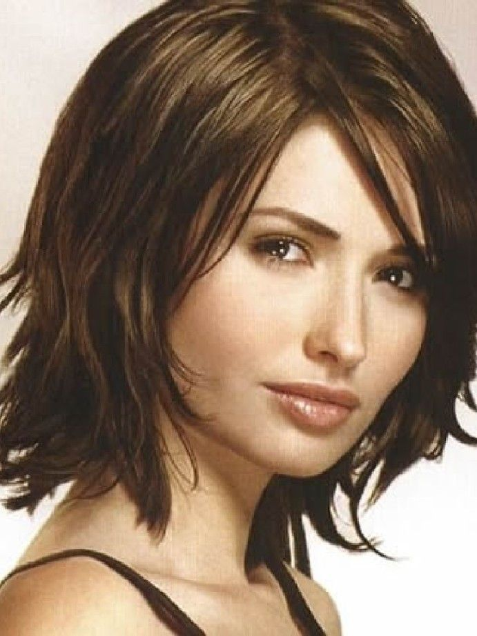 Medium Length Hairstyles For Thin Hair With Bangs My Style In 2018