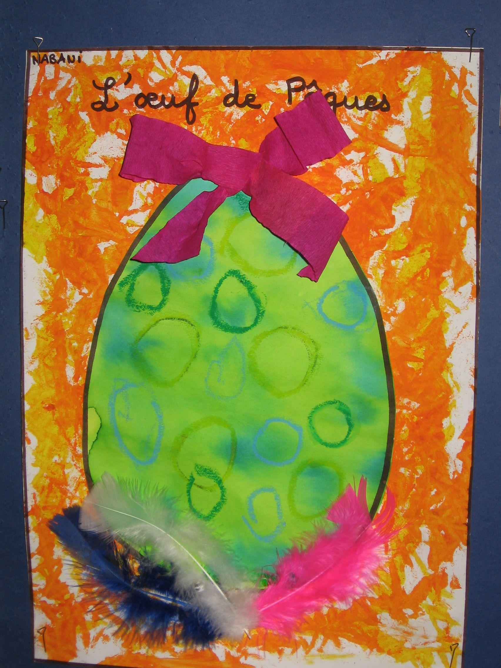 Uf de p ques c fristot and lka bricolage paques maternelle paques a activit de paques - Oeufs paques maternelle ...