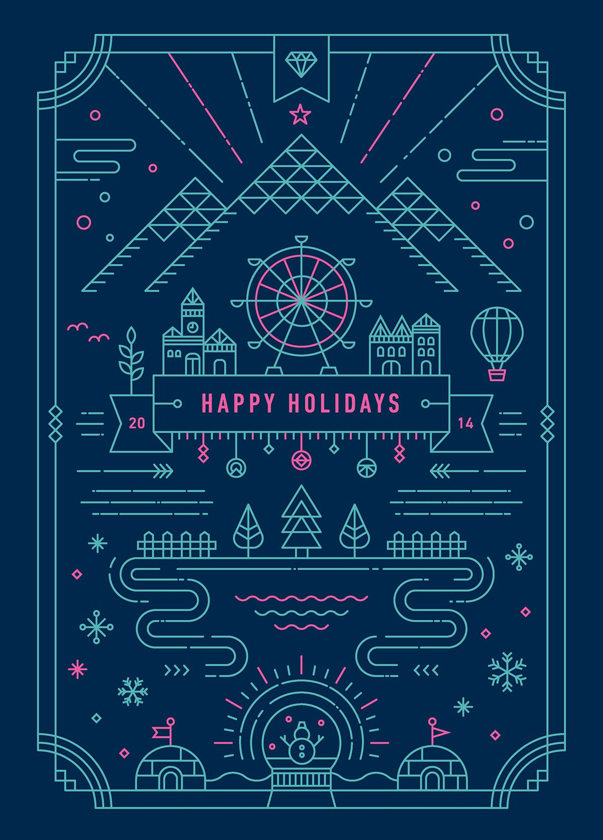 2014 Holiday Greeting Card Series This Years Theme Is Party In