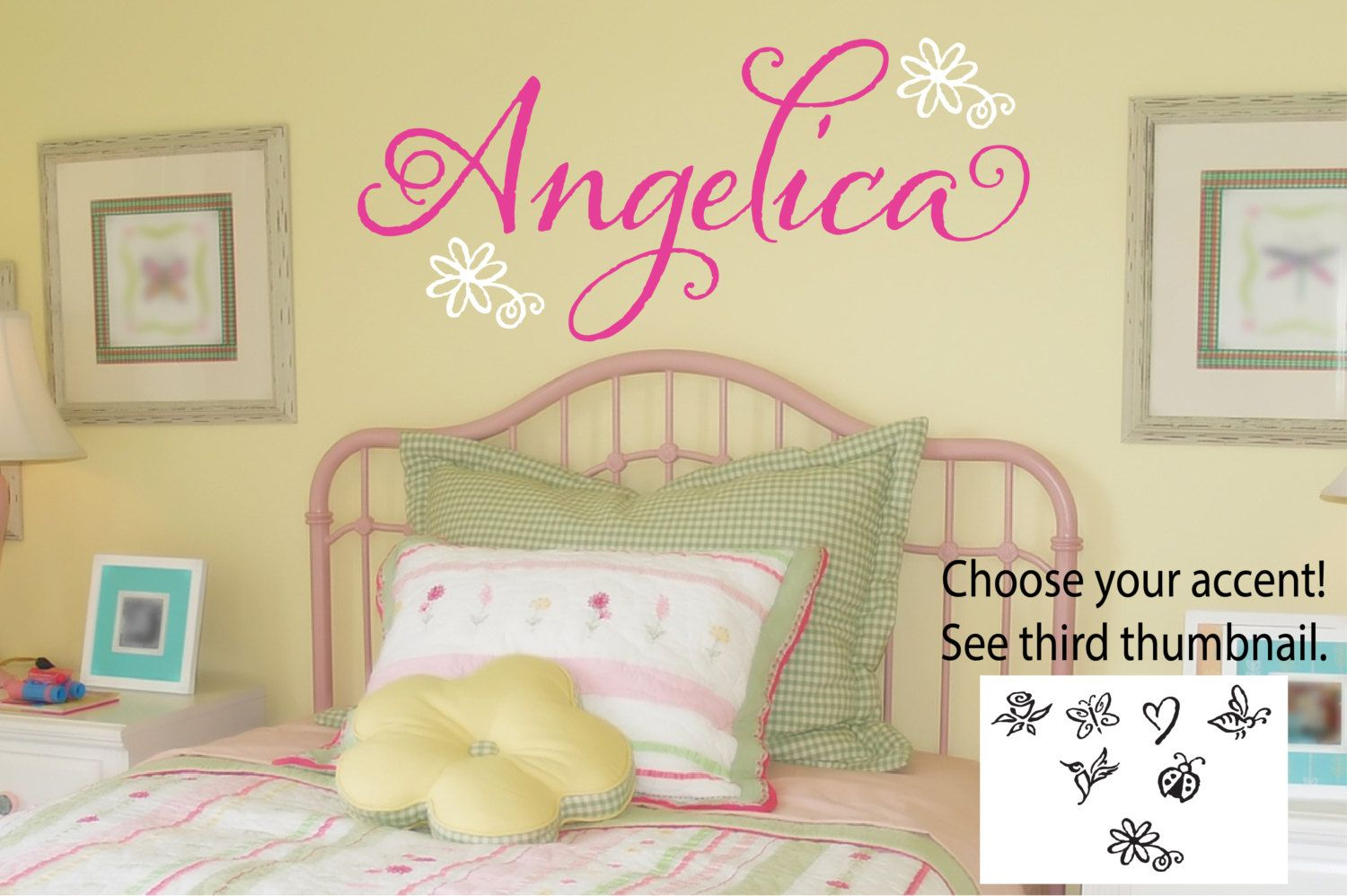 Girls Name Decal - Personalized Name Decal - Girls Bedroom Decor ...