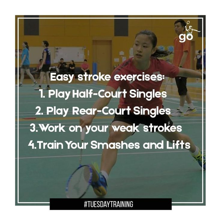 Badminton Exercise Olympic Games in 2020 Badminton tips