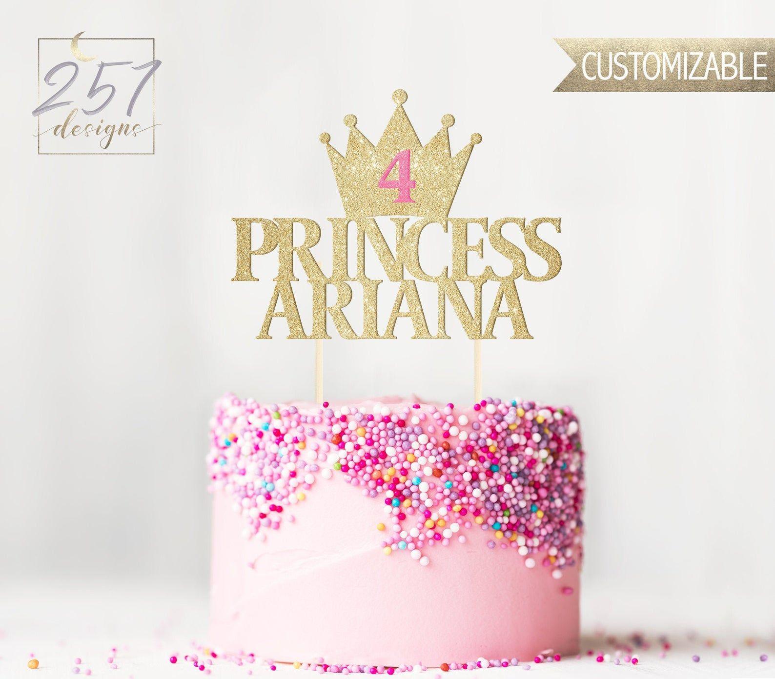 Custom princess cake topper first birthday